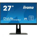 "image produit iiyama ProLite XUB2792QSUB1 écran LED 27"" IPS WQHD VGA/DP/HDMI Hub USB Pied réglable en hauteur Multimédia Châssis Slim Noir - livrable en France"