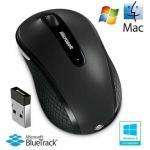 image produit Microsoft - Wireless Mobile Mouse 4000 - Souris sans Fil avec nano récepteur USB pour PC, ordinateurs portables compatible Windows, Mac, Chrome OS - Noir (D5D-00133)