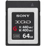 image produit Sony QDG64F/J XQD Carte mémoire Flash 64 Go 440 Mo/s - livrable en France