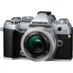 image produit Olympus OM-D E-M5 Mark III Kit, Appareil Photo Micro 4/3 (20 MP, Stabilisateur d'Image 5 Axes, AF puissant, Vidéo 4K, WLAN), Silver + Objectif M.Zuiko 14-42 mm