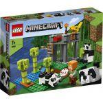 image produit LEGO Minecraft La garderie des pandas, Ensemble de construction avec figurines Alex et animaux, Jouets pour enfants de 7 ans et plus, 96 pièces, 21158 - livrable en France