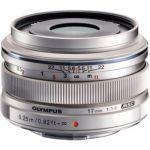 image produit Olympus M.Zuiko Objectif Digital 17mm F1.8, focale fixe lumineuse, compatible tout appareil Micro 4/3 (modèles Olympus OM-D & PEN, Panasonic G-series), Argent - livrable en France
