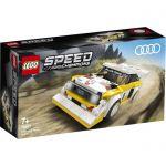 image produit LEGO Speed Champions Audi Sport quattro S1, Voiture de course avec figurine de chauffeur de course, Sets de voitures de course, 131 pièces, 76897 - livrable en France