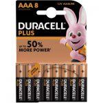 image produit Duracell Plus, lot de 8 piles alcalines Type AAA 1,5 Volts LR03 MN2400