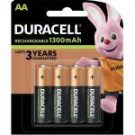 image produit Duracell HR6 / DC1500 Pack de 4 Piles AA 1300 mAh