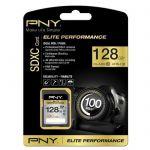 image produit PNY Carte mémoire microSDXC Elite Performance 128 Go (Classe 10 UHS-1 U3, 100 Mo/s) - livrable en France