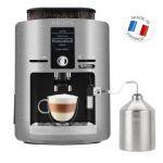 image produit KRUPS YY3069FD Machine à café automatique avec broyeur à grains Espresseria avec pot à lait - Ecran LCD - Pression 15 bars - Grise