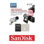 image produit Carte Mémoire microSDHC avec adaptateur SD SanDisk Haute Endurance pour surveillance vidéo en Full HD jusquà 5.000 heures - 32 Go Classe 10 (SDSDQQ-032G-G46A) - livrable en France