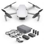 image produit DJI Mavic Mini Combo - Drone Ultra-Léger et Ultra-Transportable, Autonomie de 30 minutes, distance de Transmission de 2 km, cardan 3 Axes, 12 MP, Vidéo HD 2.7K (EU Plug)