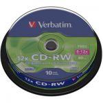 image produit CD vierge Verbatim CD-RW 700MB 10PK Spindle 8-12x - livrable en France