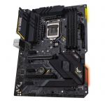 image produit ASUS TUF GAMING Z490-PLUS – Carte mère Intel Z490 LGA 1200 ATX, M.2, 14 phases, DDR4 4600, Intel 1Gb LAN, HDMI, DisplayPort,USB 3.2 Gén. 2 Type-A/C, Thunderbolt 3 et éclairage Aura Sync RGB