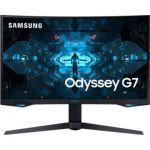 "image produit Samsung Odyssey G7 C32G75TQSU - G75T Series - Moniteur QLED - incurvé - 32"" (31.5"" visualisable) - 2560 x 1440 WQHD - VA - 600 CD/m² - 2500:1-1 ms - HDMI, 2xDisplayPort - Noir"
