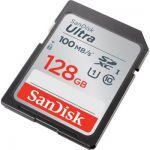 image produit SanDisk Ultra 128Go SDHC Carte mémoire (100Mo/s, Class 10 UHS-I)