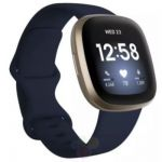 image produit Fitbit Versa 3 Midnight - Soft Gold Smartwatch Unisex-Adult, Bleu, Nuit, Or, Pâle, One - livrable en France