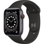 image produit AppleWatch Series6 (GPS+ Cellular, 44 mm) Boîtier en aluminium gris sidéral, Bracelet Sport noir