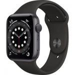 image produit AppleWatch Series6 (GPS, 44 mm) Boîtier en aluminium grissidéral, BraceletSport noir