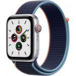 image produit AppleWatchSE (GPS+Cellular, 40 mm) Boîtier en aluminium argent, Boucle Sport marine intense