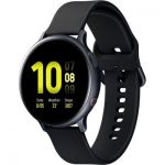 image produit Samsung - Galaxy Watch Active 2, Montre connectée Version Aluminium 4G - Noir Carbonne