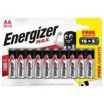 image produit Piles Alcalines Energizer Max AA/LR6, pack de 15+5