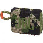 image produit JBL GO 3 – Enceinte Bluetooth portable et légère, aux basses intenses et au style audacieux – Étanche à l'eau et à la poussière – Autonomie 5 hrs – Camouflage - livrable en France