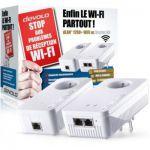 image produit devolo dLAN 1200+ WiFi AC, Prise Réseau CPL WiFi - Kit de Démarrage & 9790 WiFi Repeater AC (1200 Mbit/s, 1x Port Gigabit, WPS, Répéteur WiFi, Amplificateur WiFi), Blanc