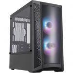 image produit COOLER MASTER MB320L ARGB Dark Mirror Boîtier PC Gaming (M-ATX, Panneau en verre trempé, 2x120mm ARGB)