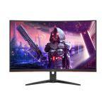 image produit AOC Écran gaming incurvé CQ32G2SE 80cm (31,5pouces) (FHD, HDMI, DisplayPort, temps de réponse MPRT de 1ms, 2560x1440px, 165Hz, FreeSync Premium) noir/rouge - livrable en France