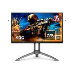 image produit AOC Écran gaming AGON AG273QZ 68cm (27pouces) (HDMI, DisplayPort, hub USB, FreeSync 2, temps de réponse de 0,5ms, HDR 400, 2560x1440, 240Hz) noir/rouge - livrable en France