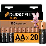image produit Duracell - NOUVEAU Piles alcalines AA Plus, 1.5 V LR6 MN1500, paquet de 20 - livrable en France