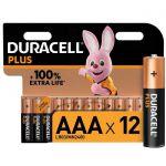 image produit Duracell - NOUVEAU Piles alcalines AAA Plus, 1.5 V LR03 MN2400, paquet de 12