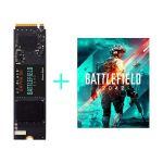image produit WD_BLACK SN750 SE 500Go Disque SSD NVMe et code du jeu PC Battlefield 2042, avec des vitesses de lecture allant jusqu'à 3600Mo/s