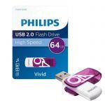 image produit Philips Vivid Edition Clé USB 2.0 USB 2.0 64 Go - Coloris aléatoires