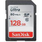 image produit Carte Mémoire SDXC 128Go SanDisk Ultra jusqu'à 80Mo/s, Classe 10