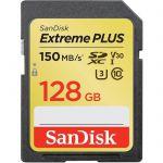 image produit Carte mémoire SDXC SanDisk Extreme PLUS 128Go jusqu'à 150Mo/s, Classe 10, U3, V30 - livrable en France