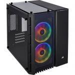 image produit Corsair Crystal 280X RGB Boîtier de PC (Micro ATX Verre Trempés) Noir - livrable en France