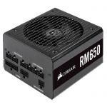 image produit Corsair RM650, RM Series Alimentation PC (Entièrement Modulaire ATX, 80 Plus Gold, 650 Watt) - Noir (EU)