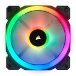 image produit Corsair LL120 RGB, Ventilateur de Boitier Dual Light Loop RGB LED PWM 120mm (Single Pack) - livrable en France