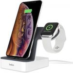 image produit Belkin Station de recharge PowerHouse pour Apple Watch et iPhone - blanc - livrable en France