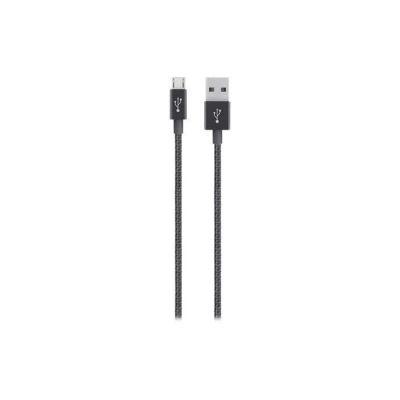 image Belkin - F2CU021bt04 - Câble Métallique Sync/Charge avec Connecteur Micro USB 2.4A - Noir Métallique