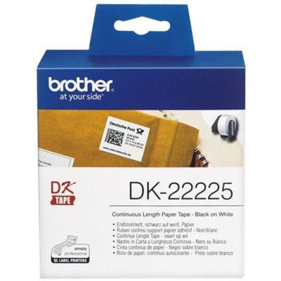 image Brother DK-22225 | Rouleau de Papier Continu, Original | Noir sur Blanc | 38 mm x 30,48 m