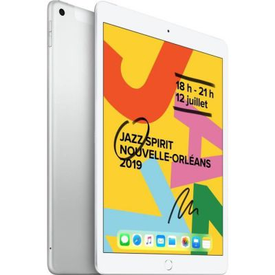image Apple iPad 10,2 Pouces (2019) (Wi-FI + Cellular, 128Go) - Argent