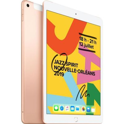 image Apple iPad 10,2 Pouces (2019) (Wi-FI + Cellular, 128Go) - Or