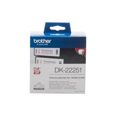image Brother DK-22251 Rouleau de Papier Continu, Original Noir sur Blanc 62 mm x 15,24 m