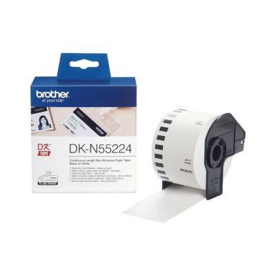 image Brother DK-N55224 | Rouleau de Papier Continu, Original | Sans Adhésif | Noir sur Blanc | 54 mm x 30,5 m Blanc