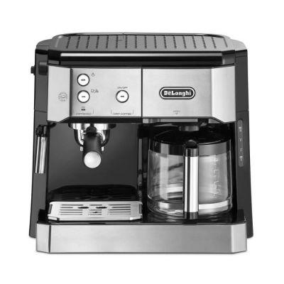 image DeLonghi BCO 421.S Machine à café automatique 1750 W, 1 litre, Acier inoxydable, Noir, Argent