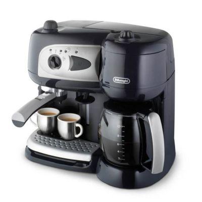 image De'Longhi Machine à Café à Pompe et Cafetière Filtre 2-en-1, Machine Expresso BCO260CD.1, Noir