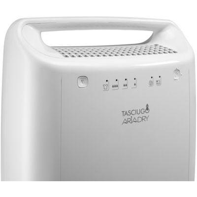 image De'Longhi DEX210 AriaDry Déshumidificateur d'air pour maison, 267 W, 10 litres, 37 décibels, plastique, blanc