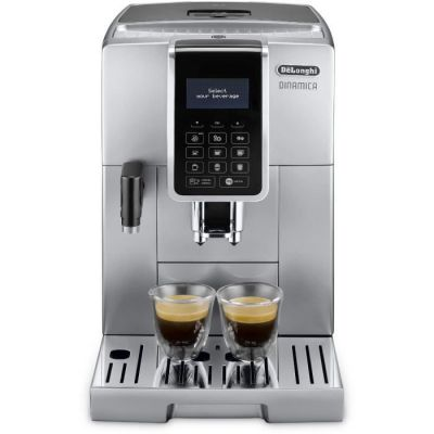 image De'Longhi Dinamica, Machine expresso avec broyeur, technologie exclusive boissons lactées, ECAM350.75.S, Argent