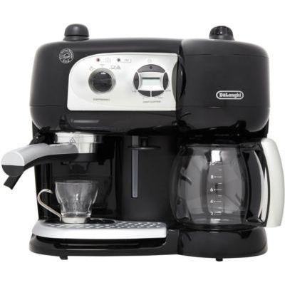 image De'Longhi Machine à Café à Pompe et Cafetière Filtre 2-en-1, Machine Expresso BCO264.1, Noir