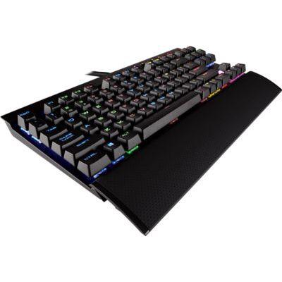 image Corsair K65 RAPIDFIRE Clavier Mécanique Gaming (Cherry MX Speed, Rétro-Éclairage RGB Multicolore, AZERTY) Noir